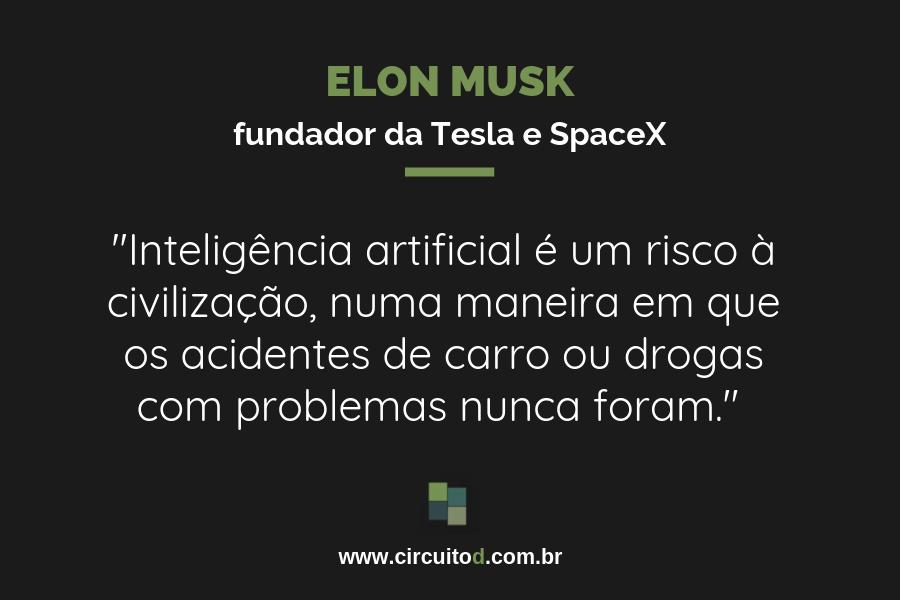 Frases sobre inteligência artificial de Elon Musk