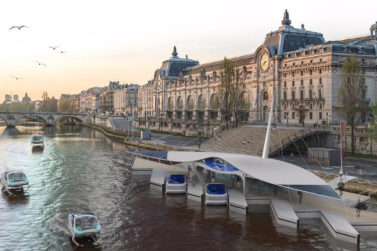 Barcos voadores em Paris