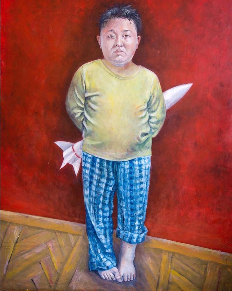 Pintura de Kim Jon-Un
