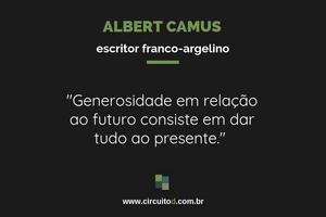 Frase de Albert Camus sobre o futuro e o presente