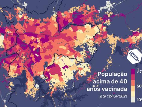 Periferia de São Paulo fica para trás em imunização