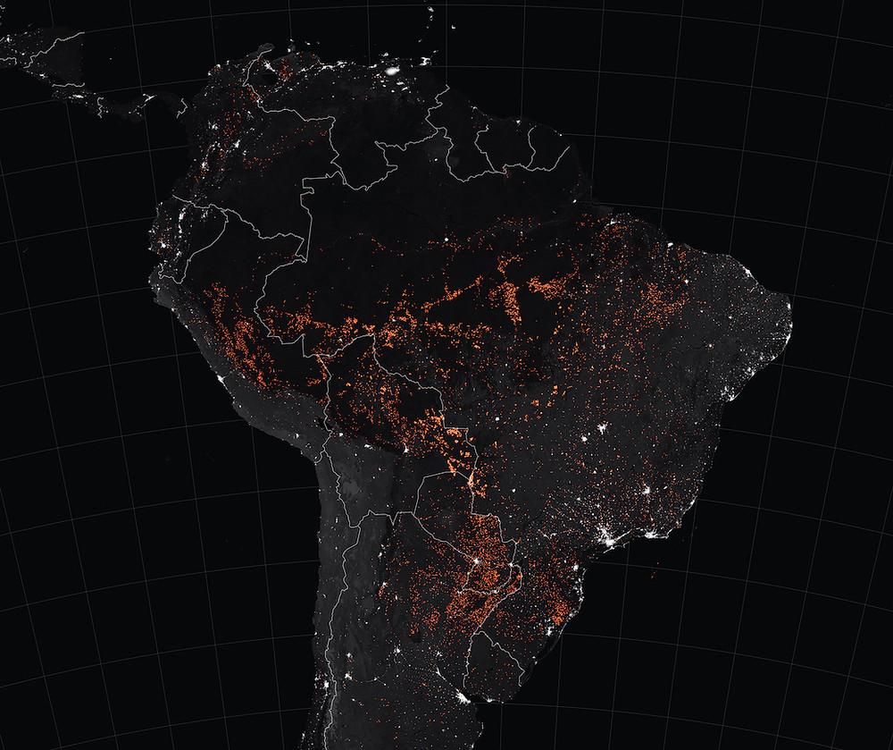 Incêndios na América do Sul em agosto de 2019