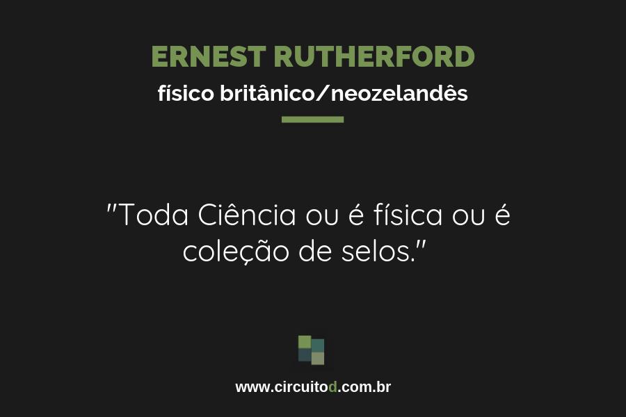 Frases de Ernest Rutherford sobre Ciência