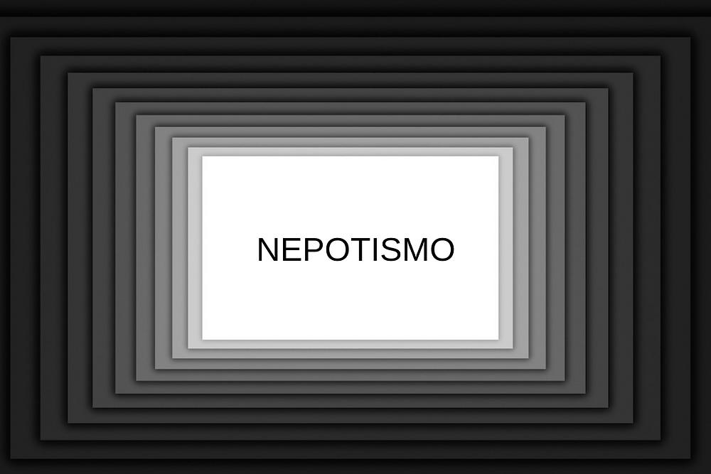 Ilustração com a palavra nepotismo