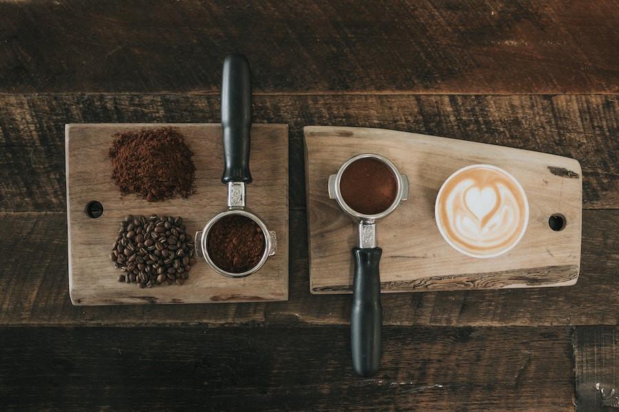 Café em grãos e moído