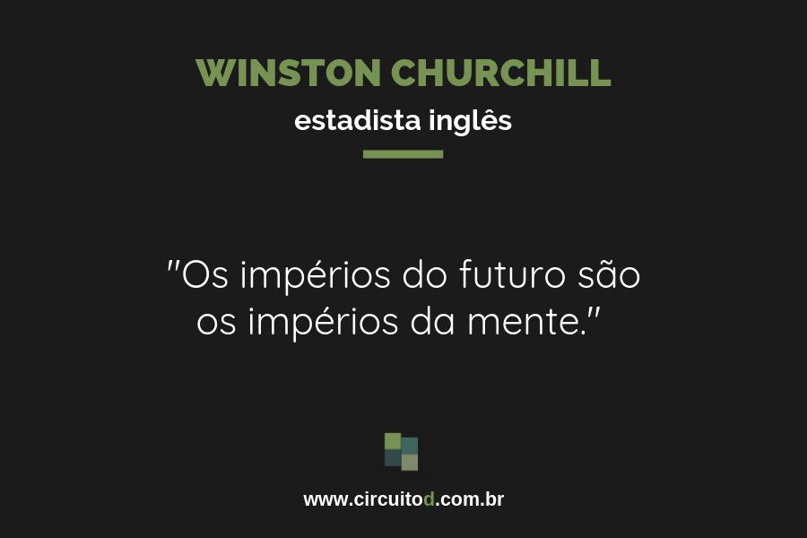 Frase de Churchill sobre o futuro
