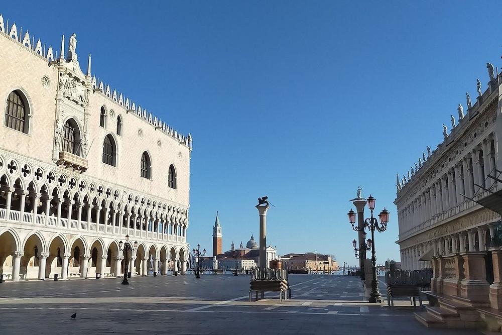 Veneza vazia por causa do coronavírus
