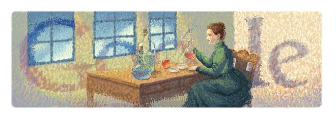 Doodle de Marie Curie