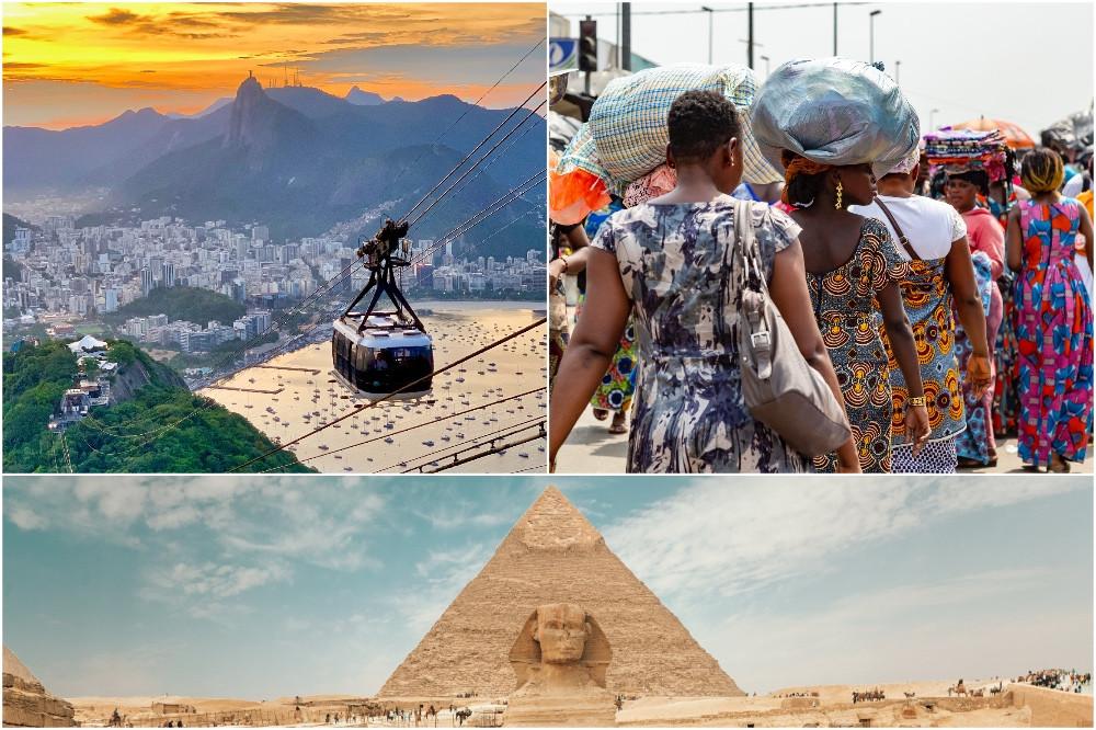 Brasil, Costa do Marfim e Egito
