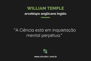 Frase de William Temple sobre Ciência