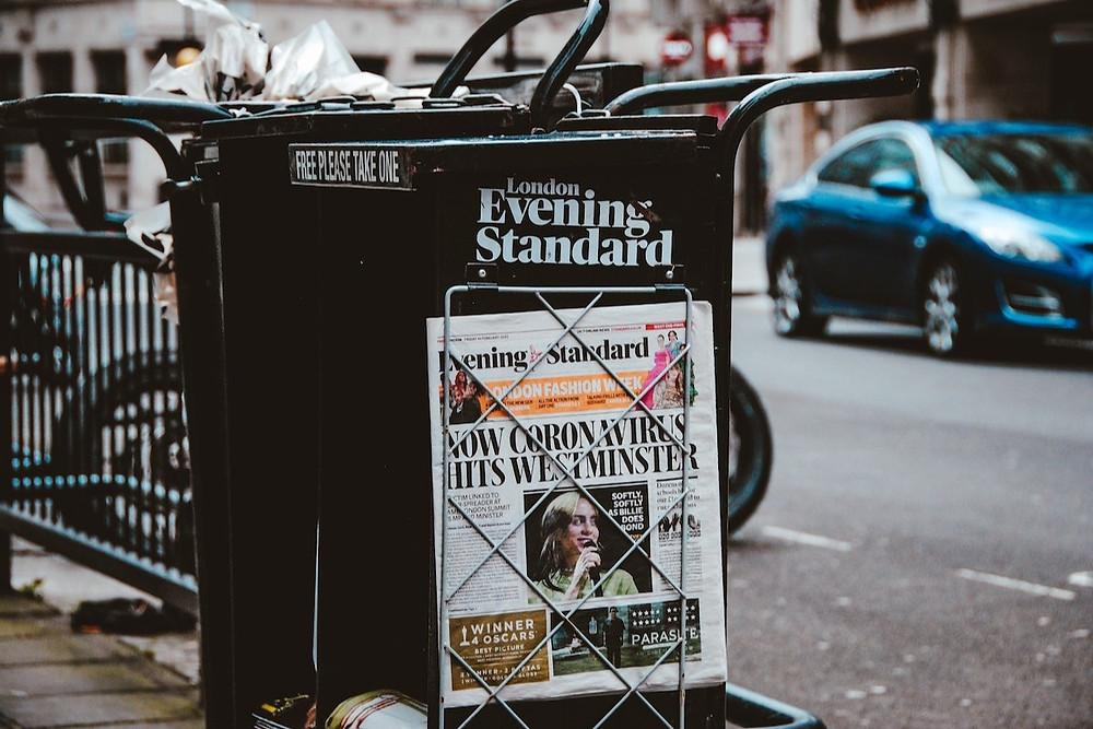 Jornal em Londres