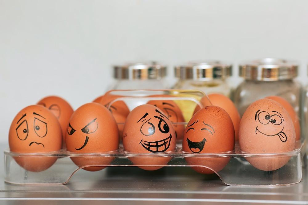 Ovos desenhados