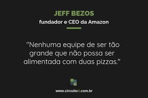 Frase de Jeff Bezos sobre tamanho de equipe