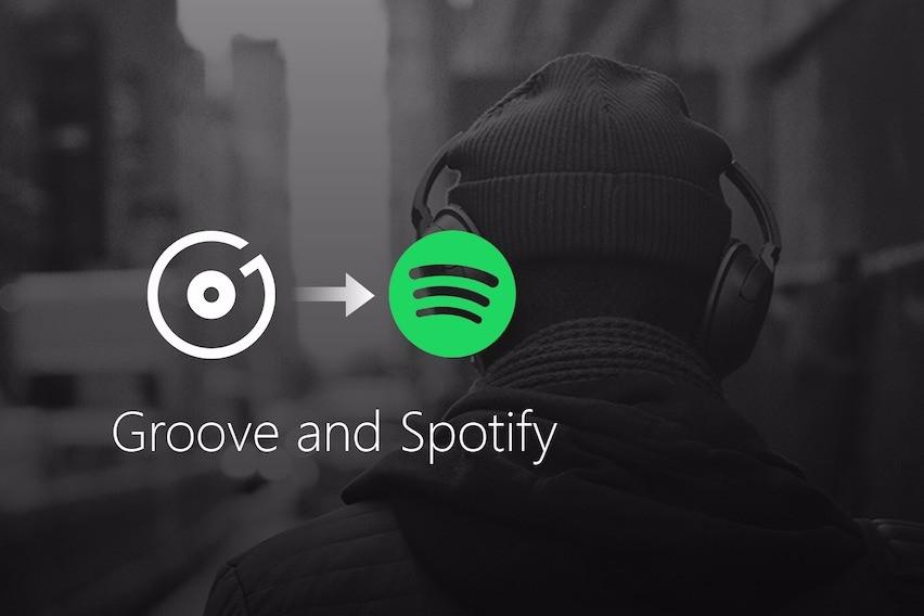 Imagem do Groove indo para o Spotify