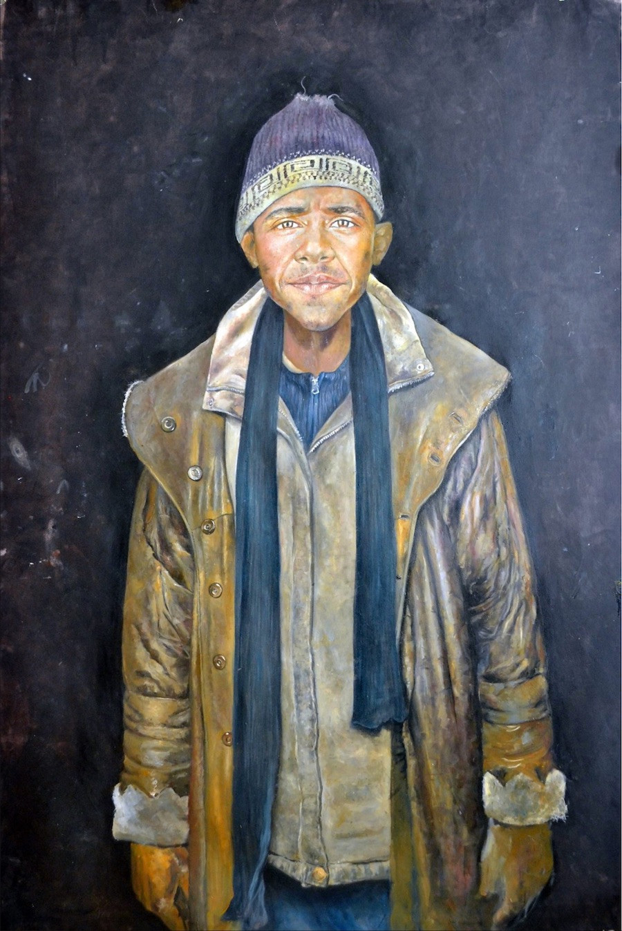 Pintura de Barak Obama