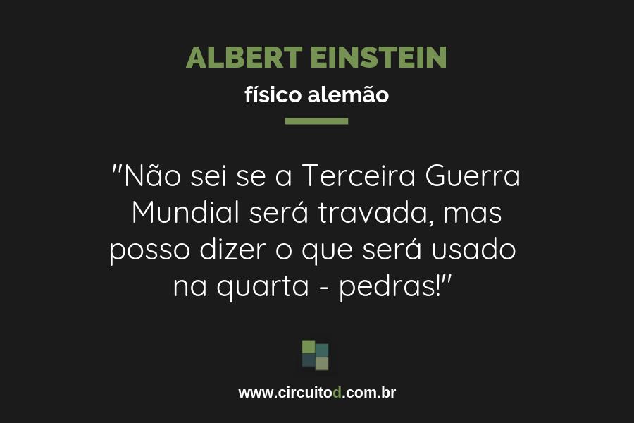 Frase de Albert Einstein sobre guerras