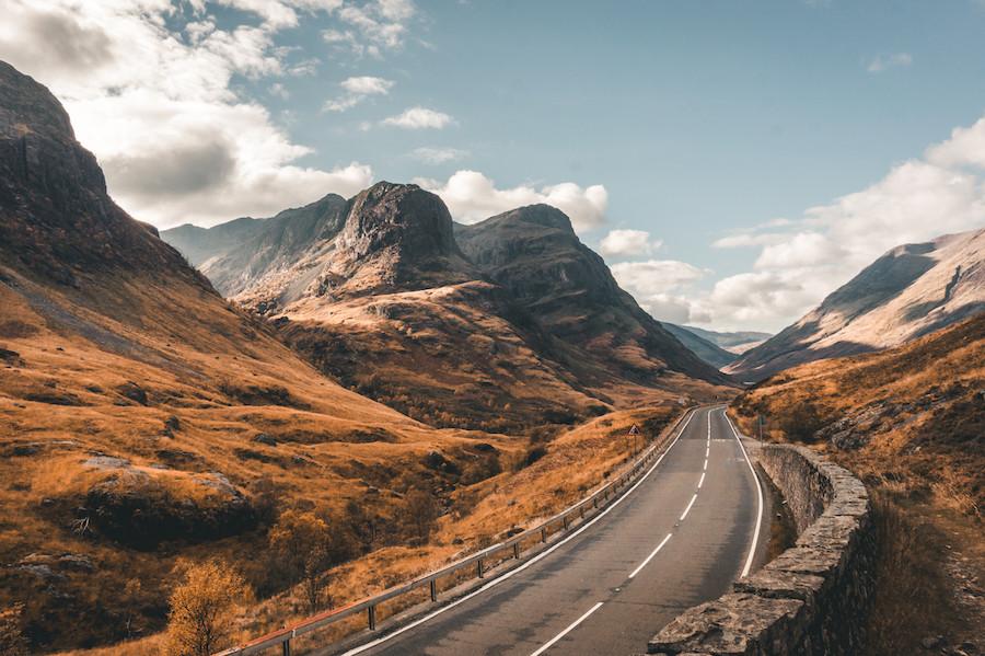Primeiro prêmio: Três Irmãs de Glencoe, no outono, nas Terras Altas da Escócia, de Milena Frajewicz.