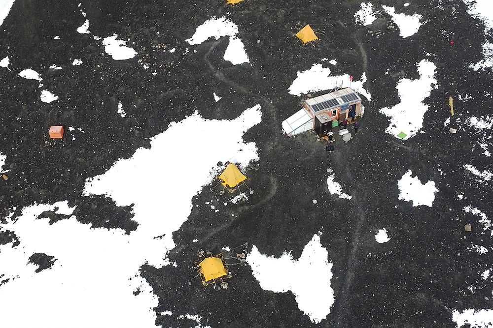 Visão de drone na Antártica