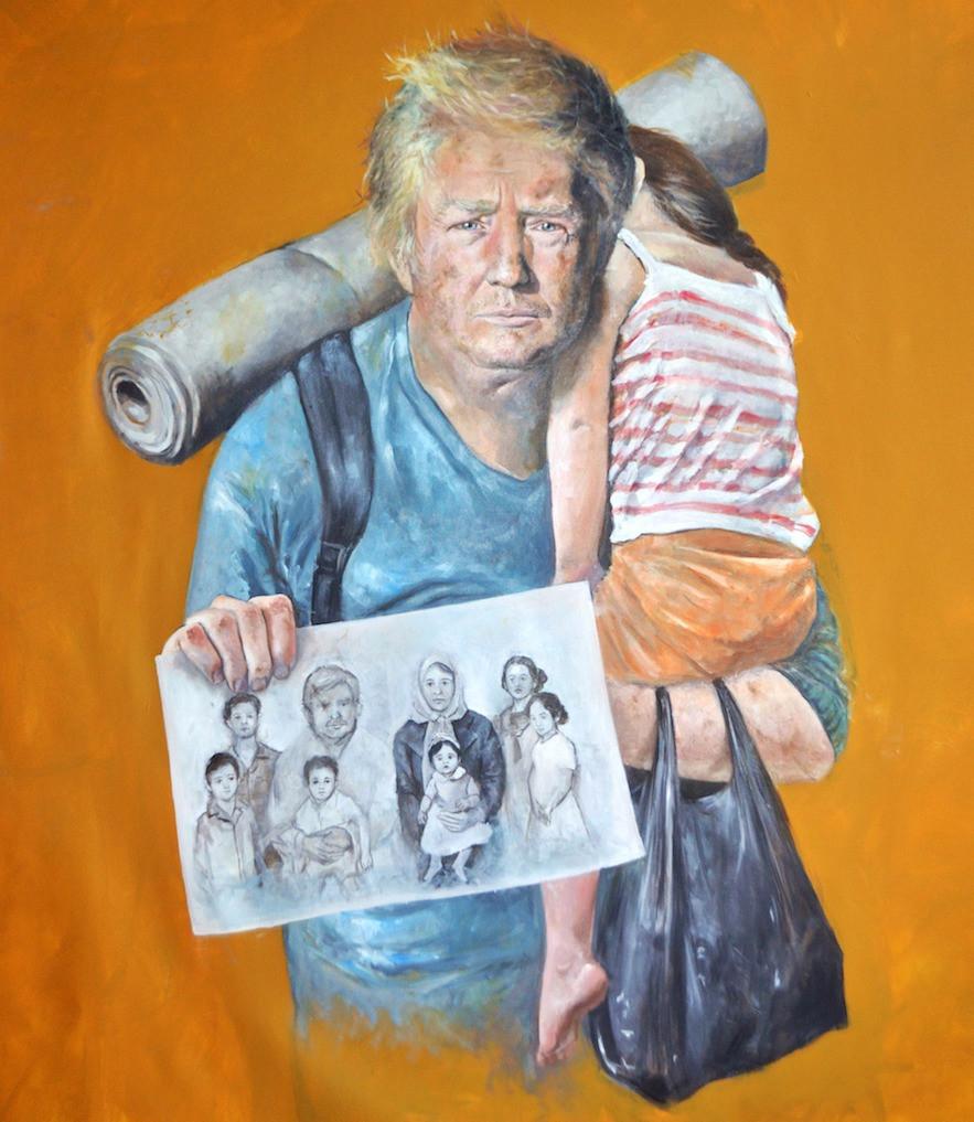 Pintura de Donald Trump
