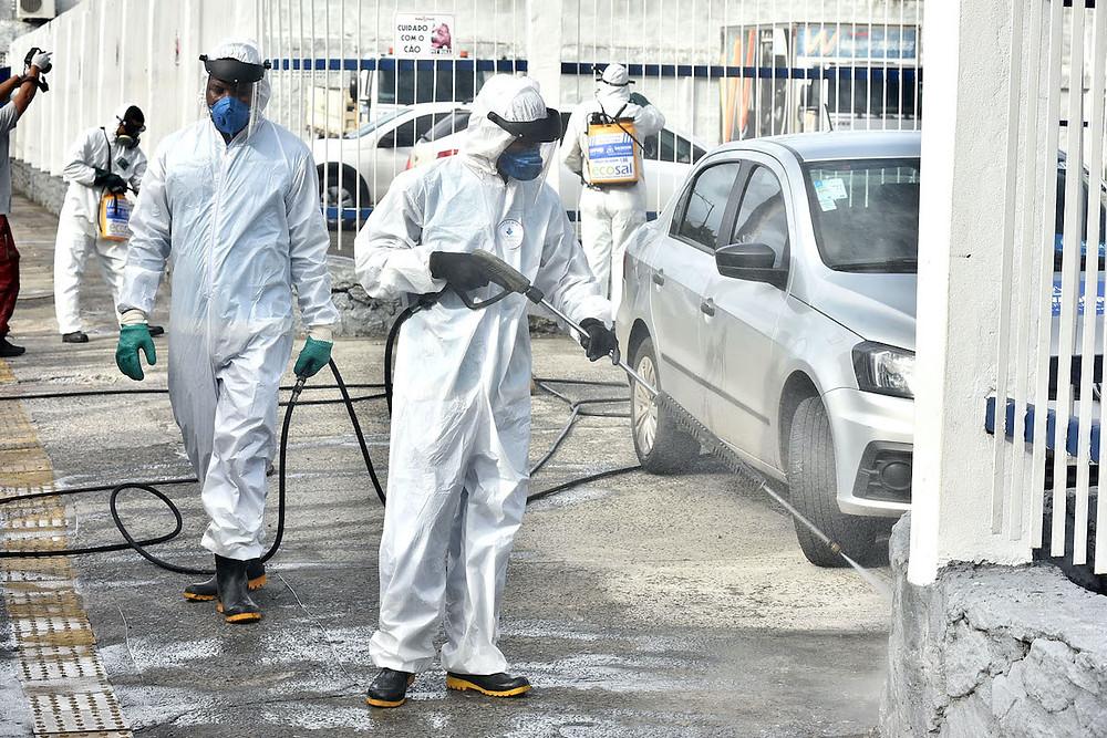 Higienização das ruas de Salvador