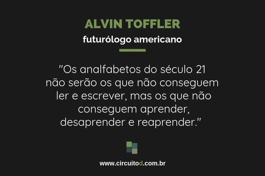 Frases sobre conhecimento: de Alvin Toffler