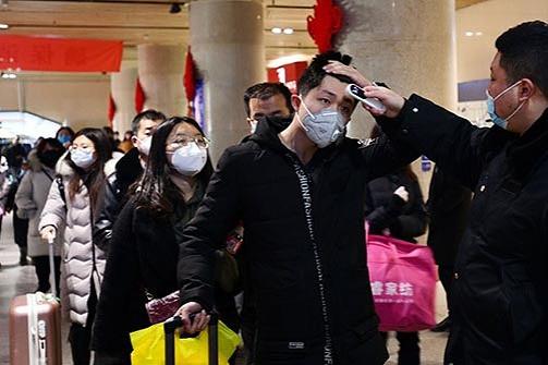 Passageiros de trem em Jinan