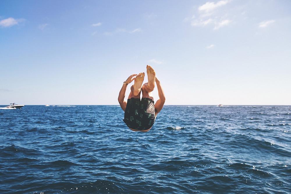 Pirueta no mar