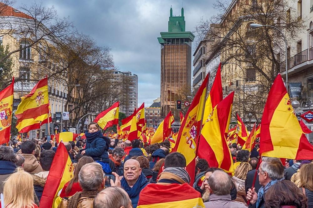 Manifestação do Vox na Espanha
