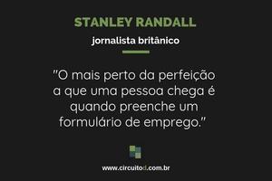 Frase de Stanley Randall sobre carreira