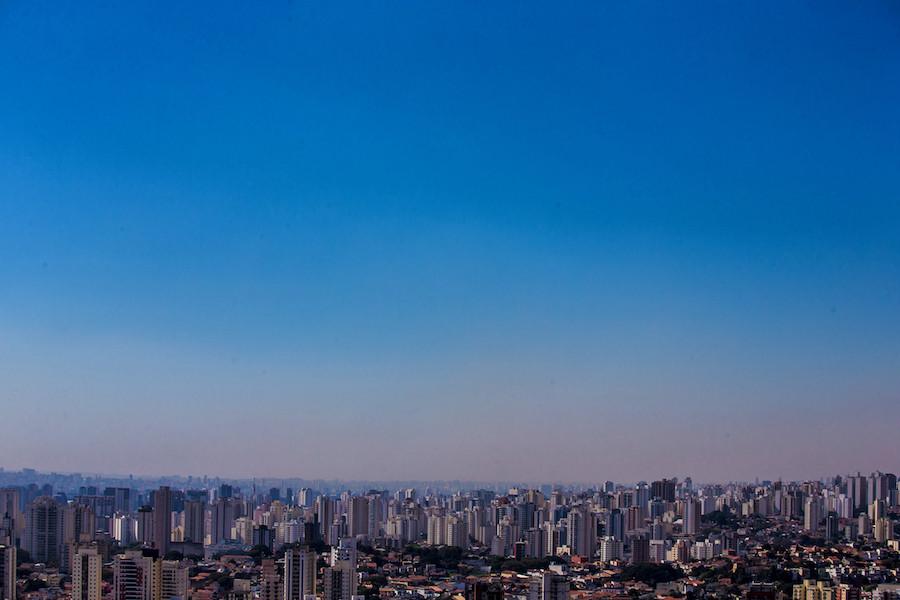 São Paulo com ar poluído
