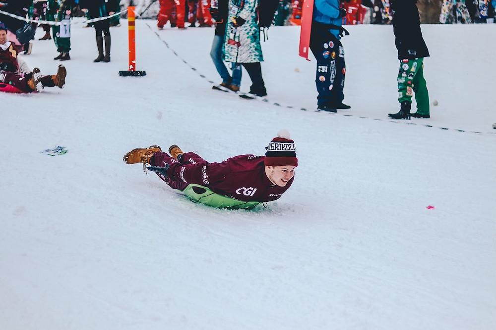Competição na neve em Helsinki