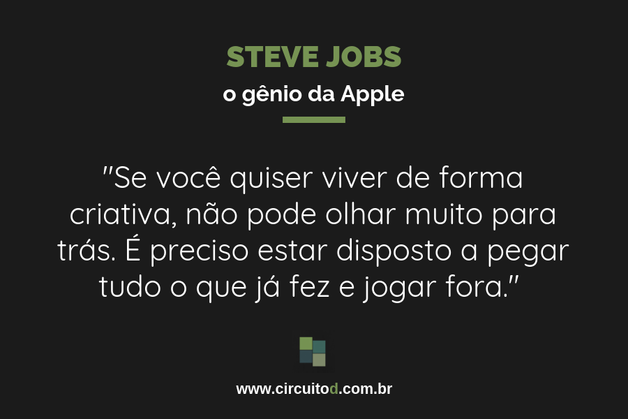 Frases sobre criatividade de Steve Jobs