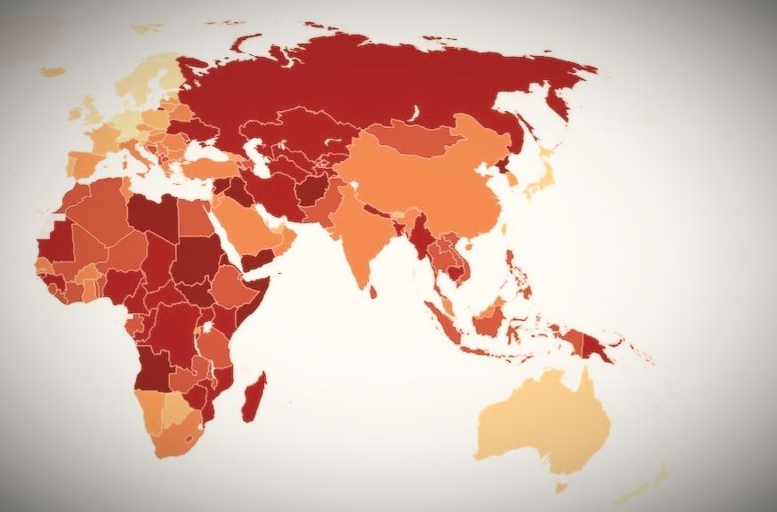 Mapa da corrupção global