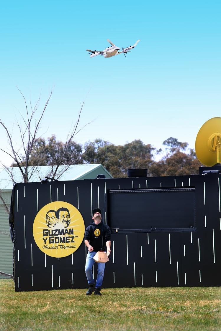 Drone que entrega burritos