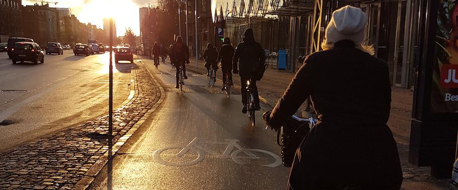 Ciclistas em Copenhague