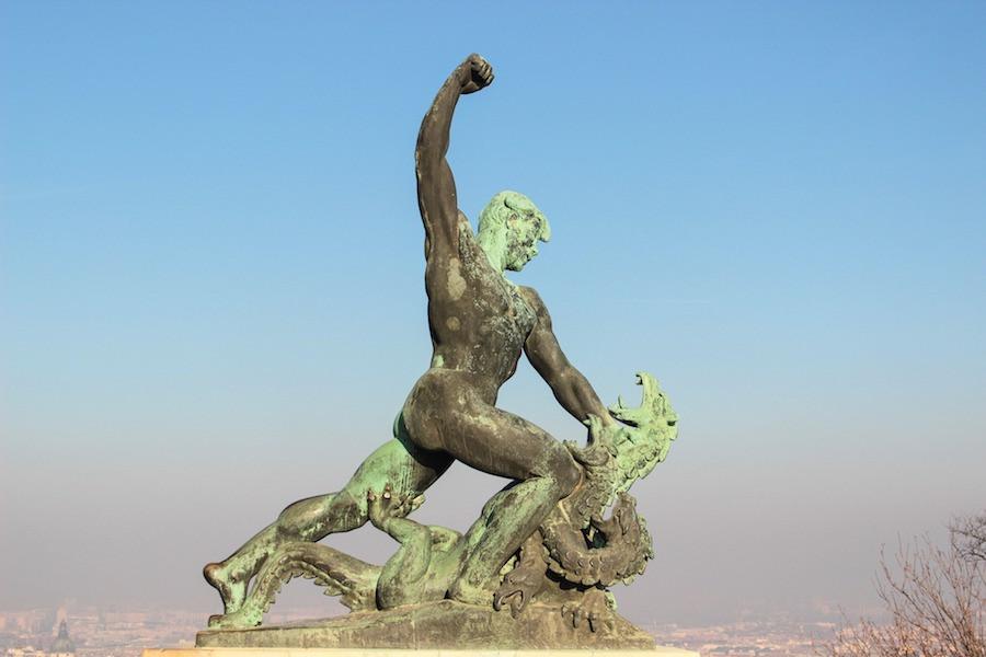 Escultura de luta