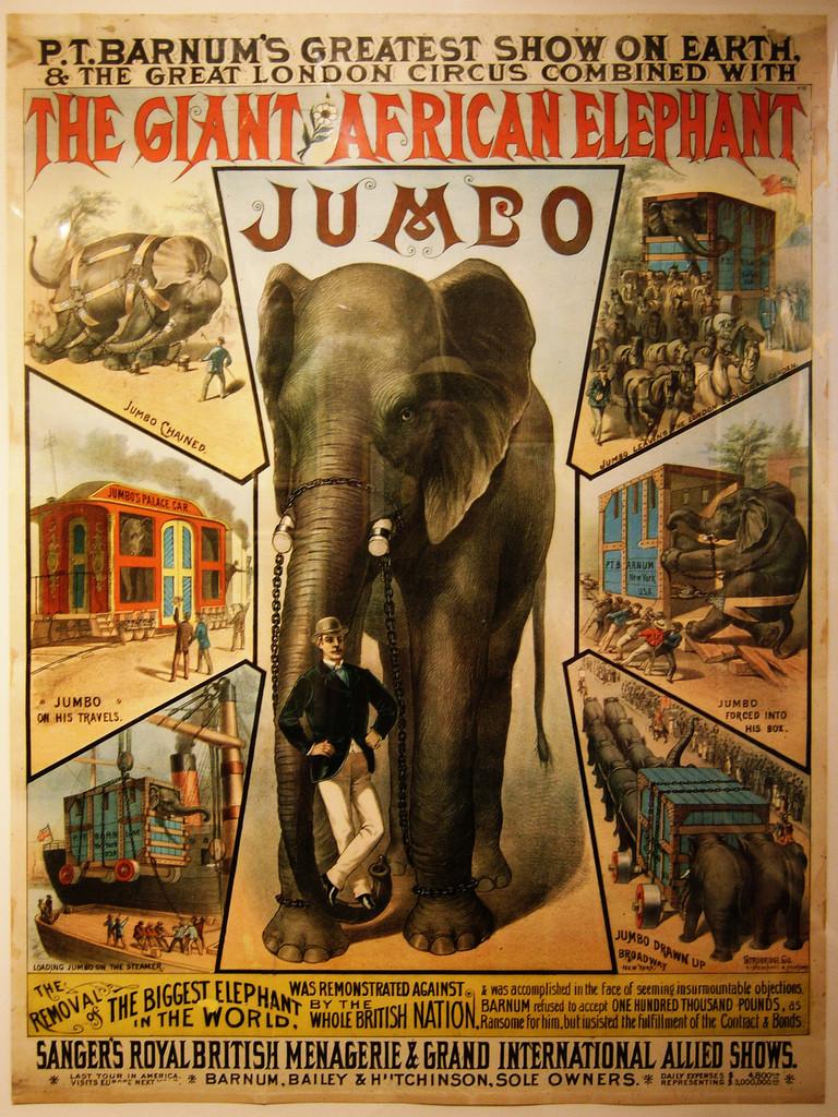 Poster do circo Barnum & Bailey