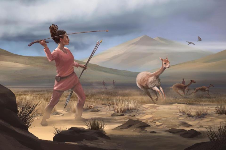 Caçadora andina de 9000 anos atrás
