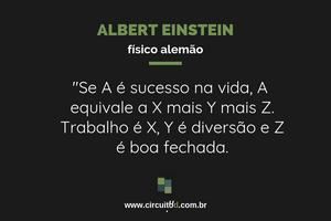 Frase de Albert Einstein sobre a vida