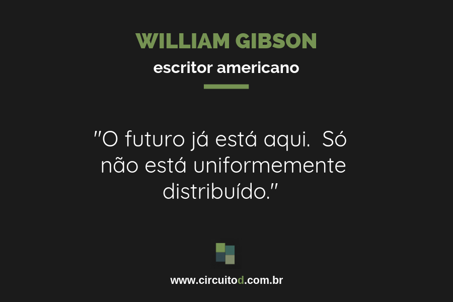 Frase de William Gibson sobre futuro