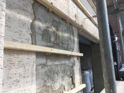 Lattung auf alter Fassade