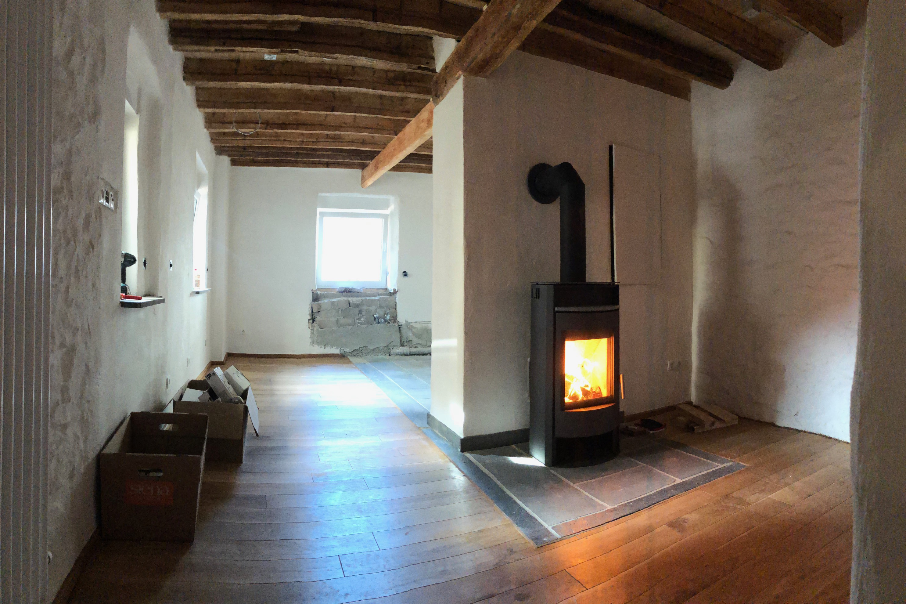 Holzofen Wohnzimmer