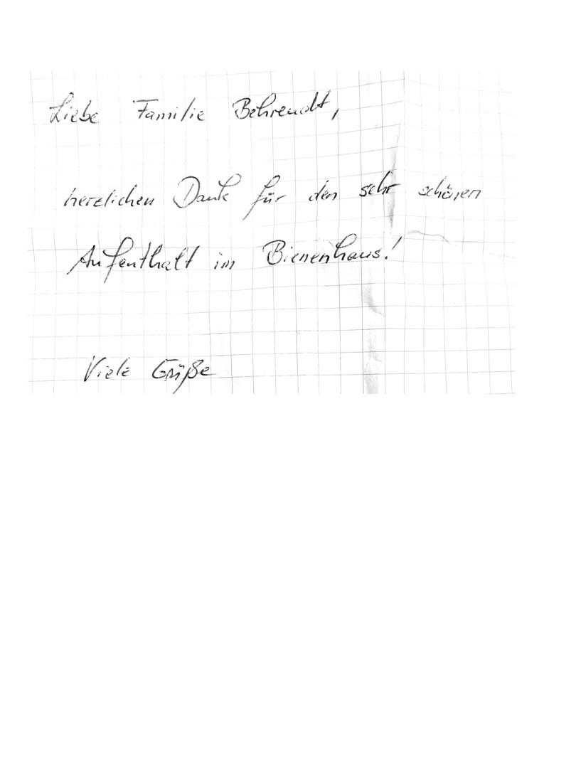 Gästebuch Bienenhaus