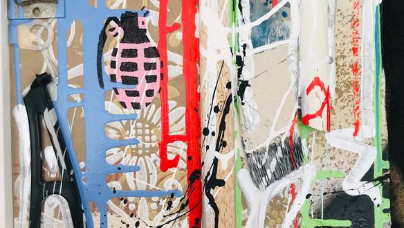 Ausschnitt/Cut out Maler Ingo Linz o.znil