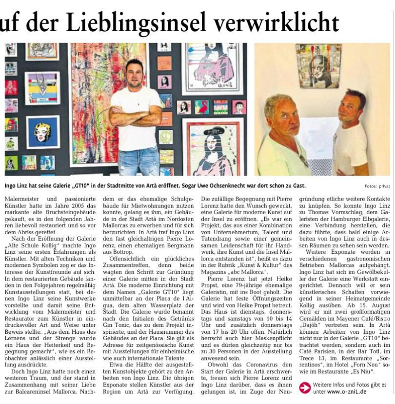 Bericht RheinZeitung 30.07.2020