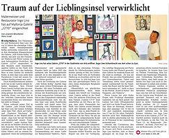 Pressebericht Maler Ingo Linz o.znil
