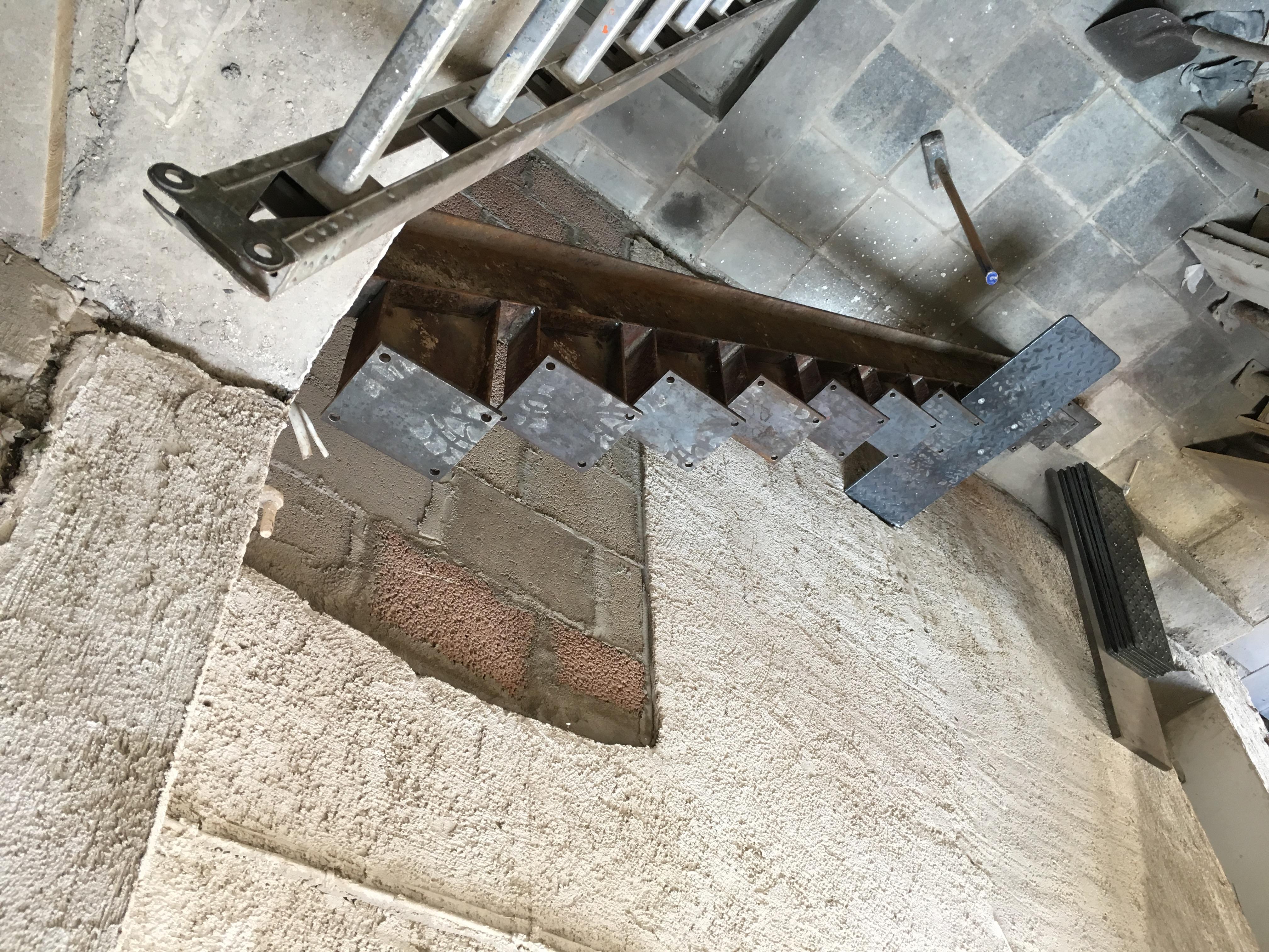 Treppe aus Stahlträger