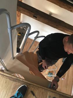 Treppenaufbau