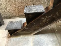 Auflagen Stufen Stahlträger