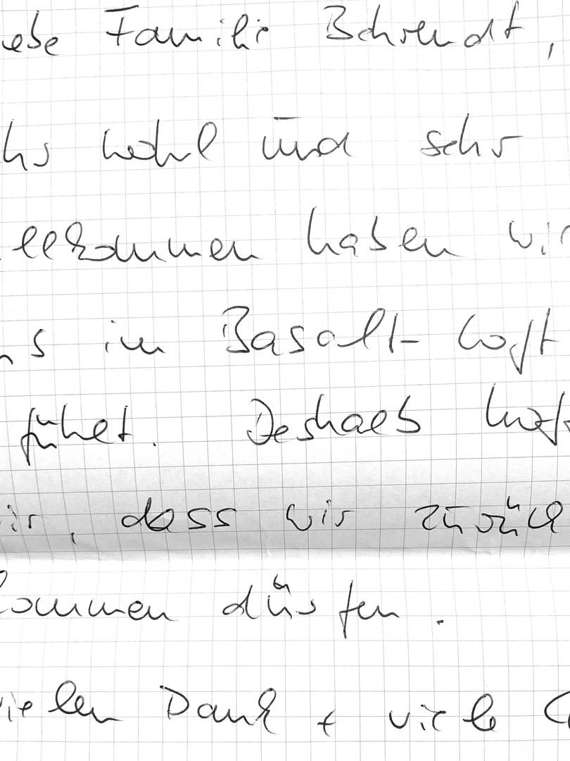 Gästebuch Basalt-Loft